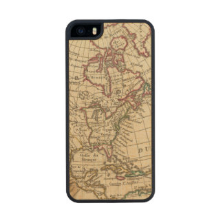 Escuela de Norteamérica Funda De Madera Para iPhone 5