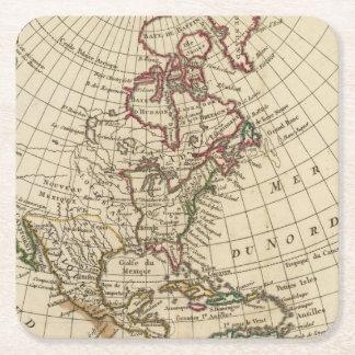 Escuela de Norteamérica Posavasos De Cartón Cuadrado