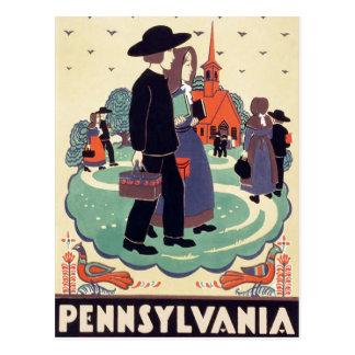 Escuela de Pennsylvania del vintage Tarjeta Postal
