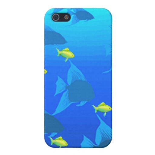 Escuela de pescados iPhone 5 carcasas