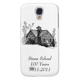 Escuela de piedra 100 años de caso del iPhone 3G/3 Funda Para Galaxy S4