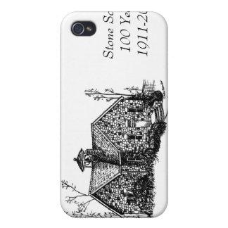 Escuela de piedra 100 años de caso del iPhone 4 iPhone 4 Funda