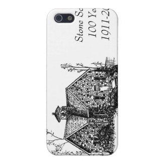 Escuela de piedra 100 años de caso del iPhone 4 iPhone 5 Cárcasa