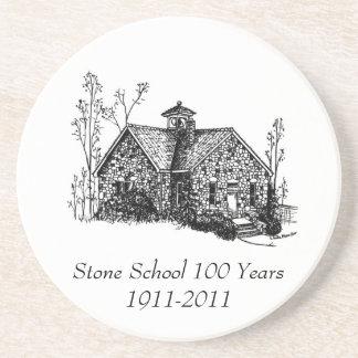 Escuela de piedra 100 años de práctico de costa posavasos cerveza