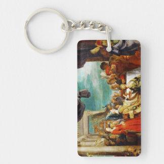 Escuela de Rubens - de Alboin y de Rosamunde Peter Llavero Rectangular Acrílico A Doble Cara
