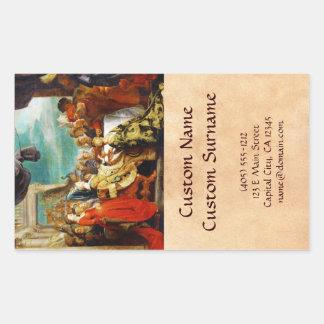 Escuela de Rubens - de Alboin y de Rosamunde Peter Pegatina Rectangular