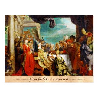 Escuela de Rubens - de Alboin y de Rosamunde Peter Postales