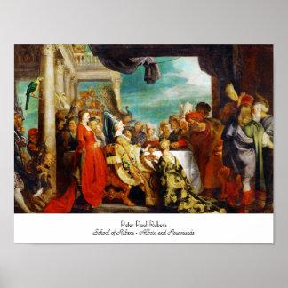 Escuela de Rubens - de Alboin y de Rosamunde Peter Póster