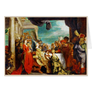 Escuela de Rubens - de Alboin y de Rosamunde Peter Tarjeta Pequeña