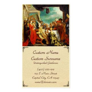Escuela de Rubens - de Alboin y de Rosamunde Peter Tarjetas De Visita