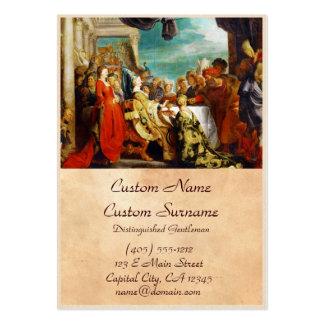 Escuela de Rubens - de Alboin y de Rosamunde Peter Tarjetas De Visita Grandes