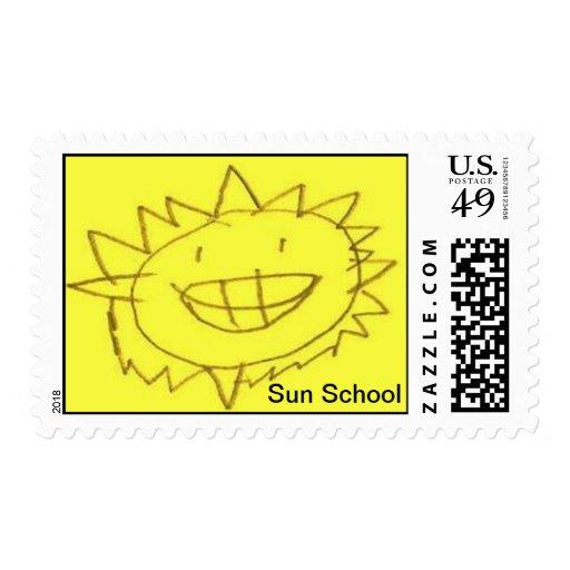 Escuela de Sun Timbres Postales