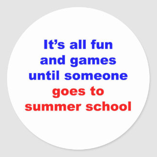 Escuela de verano etiquetas redondas