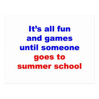 Escuela de verano postales