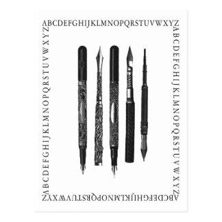 Escuela del alfabeto postales