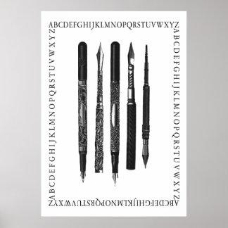Escuela del alfabeto póster