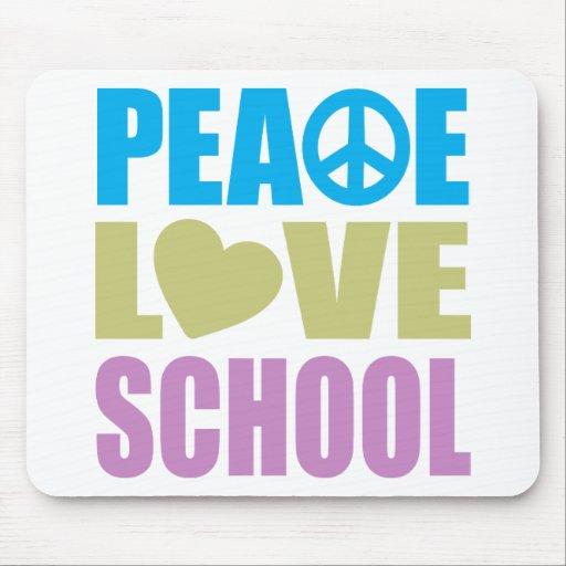 Escuela del amor de la paz alfombrilla de raton