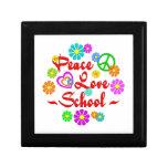 Escuela del amor de la paz cajas de recuerdo
