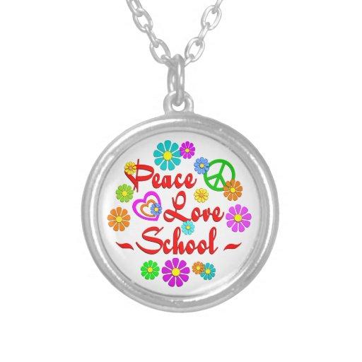 Escuela del amor de la paz collares personalizados