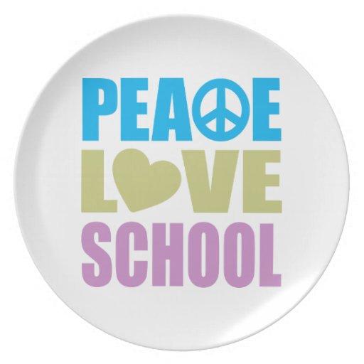 Escuela del amor de la paz plato
