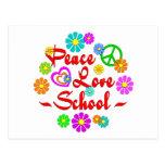 Escuela del amor de la paz postal
