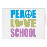 Escuela del amor de la paz tarjeton