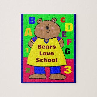 Escuela del amor de los osos rompecabeza