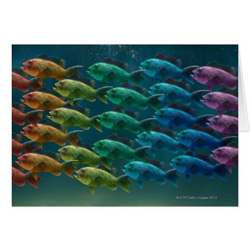 Escuela del bajo del Mar Negro en los colores del Felicitación