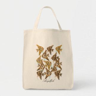 Escuela del bolso del Angelfish Bolsa Tela Para La Compra
