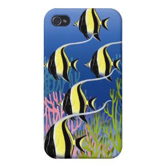 Escuela del caso de 4S del iPhone 4 de los pescad iPhone 4 Coberturas