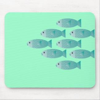 escuela del cojín de ratón de los pescados alfombrilla de ratones