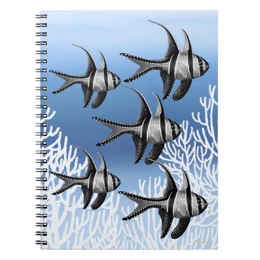 Escuela del cuaderno del Cardinalfish de Banggai