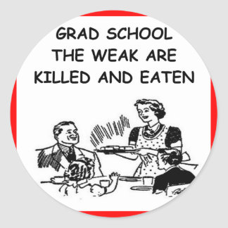 escuela del graduado etiqueta redonda