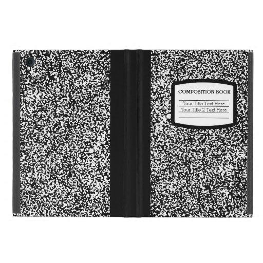 Escuela del libro de encargo de la composición/pro iPad mini funda