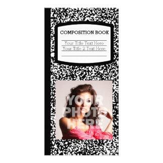 Escuela del libro de encargo de la tarjetas con fotos personalizadas