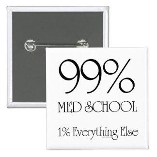 Escuela del MED del 99% Pin Cuadrada 5 Cm