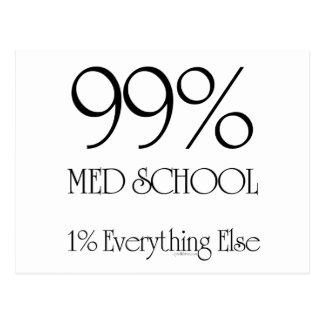 Escuela del MED del 99% Tarjeta Postal