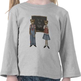 Escuela del oso de peluche camisetas