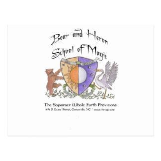 Escuela del oso y de la garza de la magia postal
