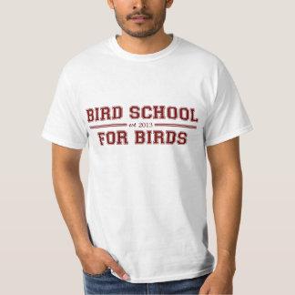 Escuela del pájaro que está para los pájaros remeras
