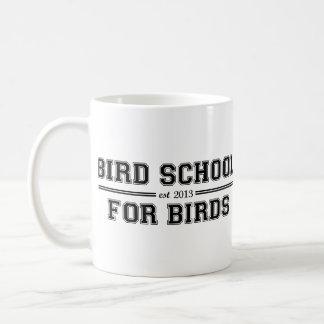 Escuela del pájaro que está para los pájaros tazas de café