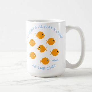 Escuela del profesor inspirado del Goldfish Taza Clásica