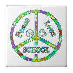 Escuela del signo de la paz azulejo ceramica