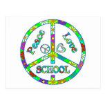 Escuela del signo de la paz postales
