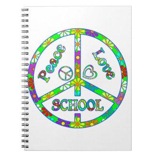 Escuela del signo de la paz spiral notebooks