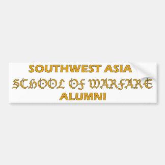 Escuela del suroeste de Asia de los alumnos de la  Etiqueta De Parachoque