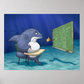 Escuela del tiburón posters