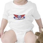 Escuela del vuelo del aeroplano de papel traje de bebé