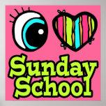 Escuela dominical brillante del amor del corazón I Póster
