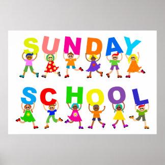 Escuela dominical póster